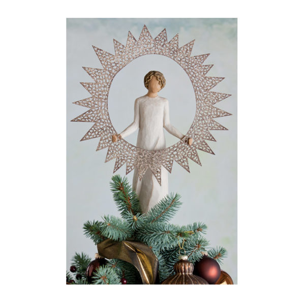 Willow Tree Starlight Angel Tree Topper 12 Inch Heigh